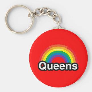 QUEENS LGBT PRIDE RAINBOW KEYCHAIN