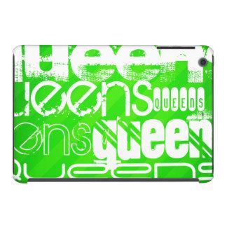 Queens; Neon Green Stripes iPad Mini Cases