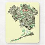Queens NY Text Art Map Mousepad