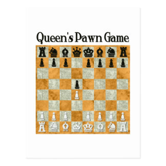 Queen's Pawn Game Postcard