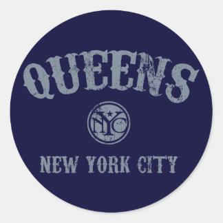 *Queens Round Sticker