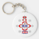 Queens Royal Jubilee stars design Basic Round Button Key Ring