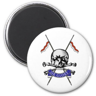 Queens Royal Lancers 6 Cm Round Magnet