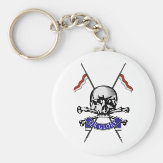 Queens Royal Lancers Basic Round Button Key Ring
