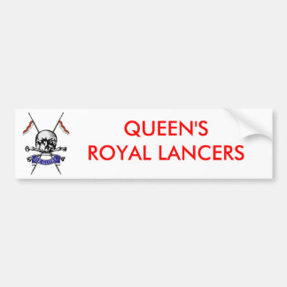Queens Royal Lancers Bumper Stickers