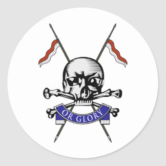 Queens Royal Lancers Classic Round Sticker