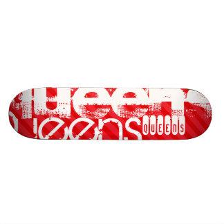 Queens; Scarlet Red Stripes 21.6 Cm Skateboard Deck
