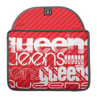 Queens; Scarlet Red Stripes MacBook Pro Sleeves