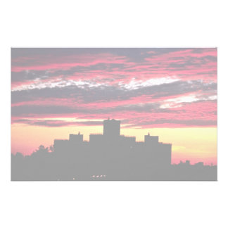 Queens sunset New York U S A Customized Stationery