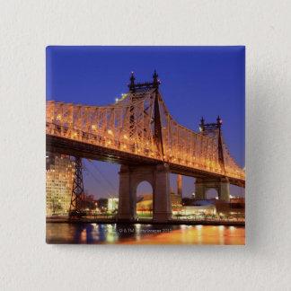Queensboro Bridge and the East River 15 Cm Square Badge