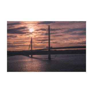Queensferry Crossing at sunset, Edinburgh Canvas Print