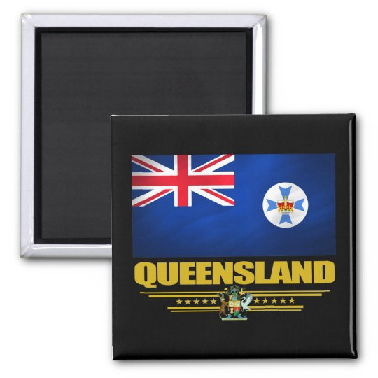 Queensland 2 square magnet
