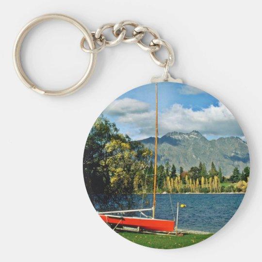 Queenstown Basic Round Button Key Ring