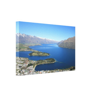 Queenstown from Bob's Peak, New Zealand - Canvas Canvas Print