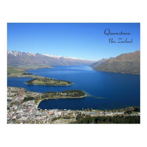 Queenstown from Bob's Peak, New Zealand - Postcard Post Card