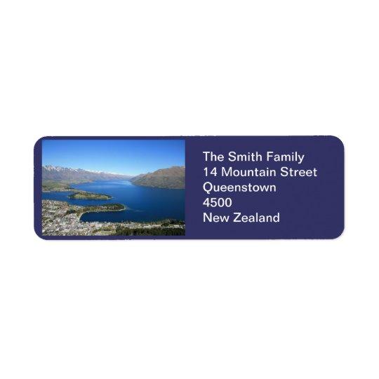 Queenstown NZ, Customisable Address Label