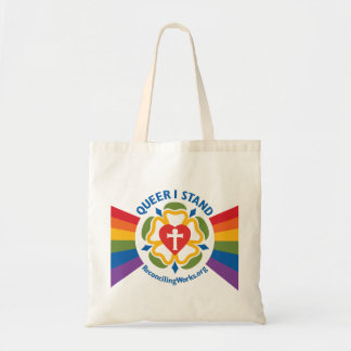 """""""Queer I Stand"""" tote bag"""