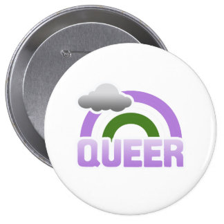 QUEER RAINBOW 10 CM ROUND BADGE