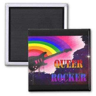 Queer Rocker Square Magnet