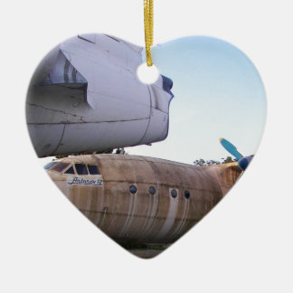 Queing never to fly again. ceramic heart decoration