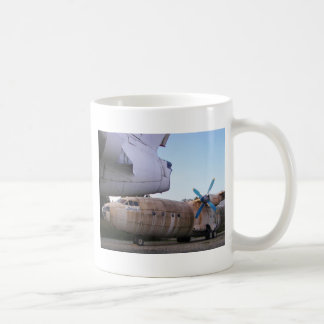 Queing never to fly again. coffee mug