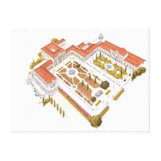 Queluz National Palace. Lisboa Portugal Canvas Print