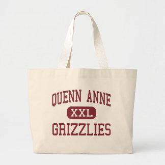 Quenn Anne - Grizzlies - High - Seattle Washington Tote Bags