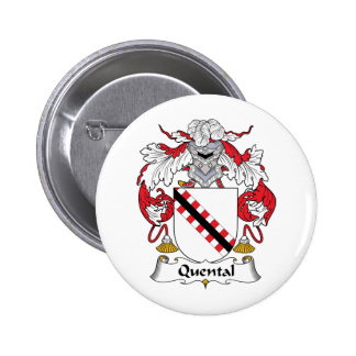 Quental Family Crest Pinback Buttons