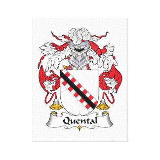 Quental Family Crest Canvas Prints
