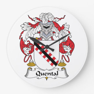 Quental Family Crest Wall Clock