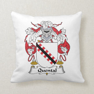 Quental Family Crest Throw Pillows