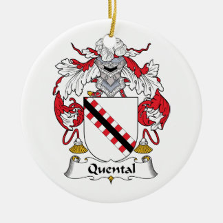 Quental Family Crest Christmas Ornaments