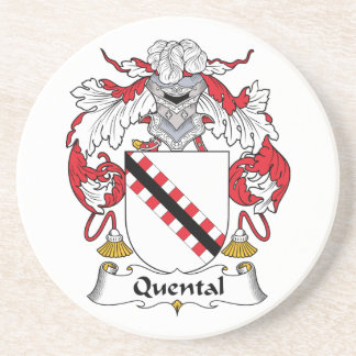 Quental Family Crest Drink Coaster