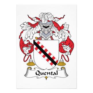 Quental Family Crest Custom Invitations