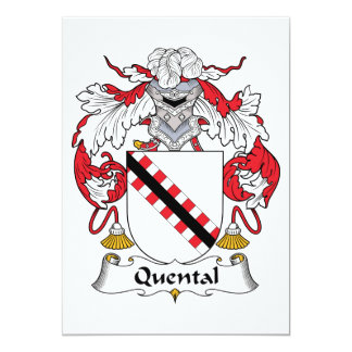 Quental Family Crest Custom Invitations