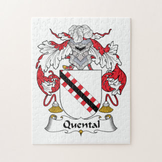 Quental Family Crest Jigsaw Puzzle
