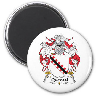 Quental Family Crest 6 Cm Round Magnet
