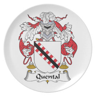 Quental Family Crest Party Plates