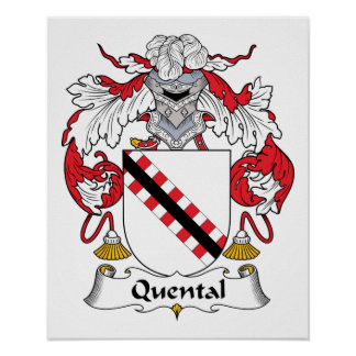 Quental Family Crest Posters