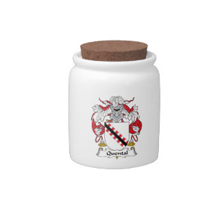 Quental Family Crest Candy Jars