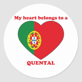 Quental Round Stickers