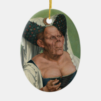 Quentin Massys - A Grotesque Old Woman, 1515 Ceramic Oval Decoration