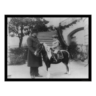 Quentin Roosevelt and Pony 1905 Poster