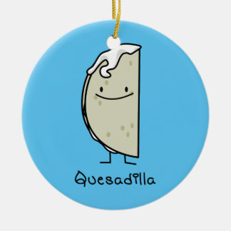 Quesadilla Mexican grilled Tortilla with Cheese Christmas Ornament