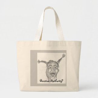 Quesion Authority ? Jumbo Tote Bag