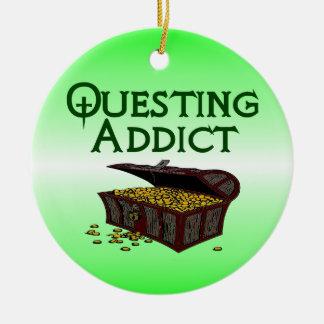 Questing Addict Round Ceramic Decoration