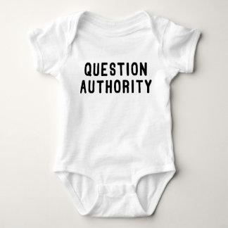 Question Authority Baby Bodysuit