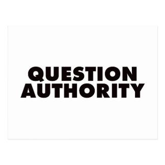 Question Authority - Black Postcards