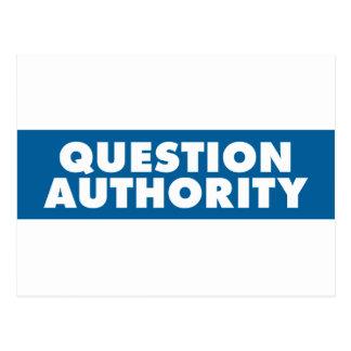 Question Authority - Blue Postcards