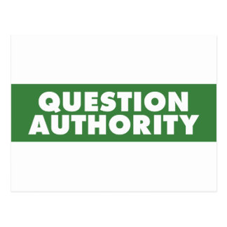 Question Authority - Green Postcards